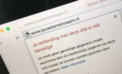 waarschuwing bij onbeveiligde websites